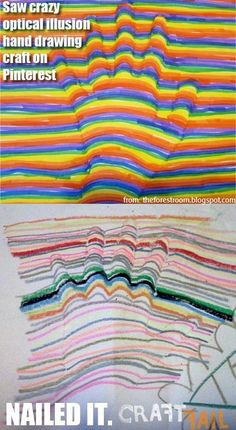 Optical illusion hand drawing - ur doin' it wrong #craftfail