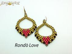 Rondò Love Earrings PDF Beading tutorial in Italian or in