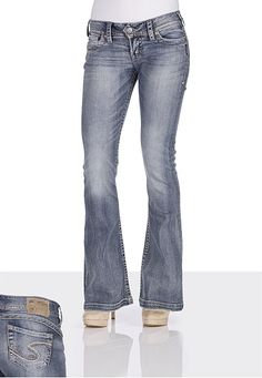 Silver Frances Flare Stretch Jean. Cute, and they look super comfy ...