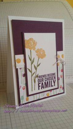 Stampin' Up! Painted Petals stamp set & Painted Blooms DSP, 2015 Occasions catalog.