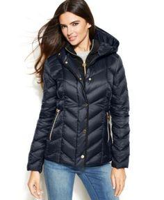 MICHAEL Michael Kors Hooded Quilted Down Packable Puffer Coat - Coats - Women - Macy's