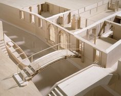 """A 3D exhibition model fabricated by George Ranalli, Architect for the CCA exhibition """"Carlo Scarpa, Architect: Intervening In History."""""""
