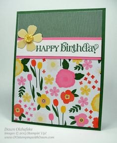 stampin up, dostamping, dawn olchefske, demonstrator, spring catalog, flower fair simply scrappin kit, curly cute, birthday