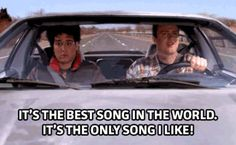 GIF: If you have to listen to only ONE song every time you're into your car, what would you choose?