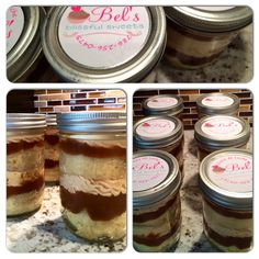 Cake in a jar for two