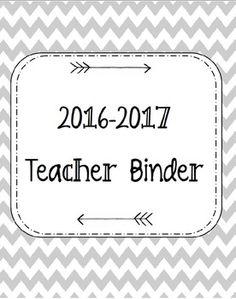 2016-2017 Teacher Binder. Teacher Cover. Calendar. TPT $2.75