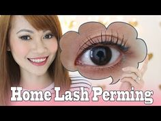 Permanently Curled Lashes At Home - YouTube