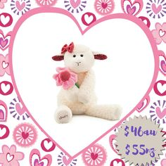Sweetie Pie has a lot of love to go around, but don't make her wait. When Sweetie Pie sells out, a new limited-edition Scentsy Buddy will take her place.  Every Scentsy Buddy features a zippered pouch to hold your favourite fragrance. Sweetie Pie the Lamb is $46 and comes with a Scent Pak of your choice. Available in Australia and New Zealand.