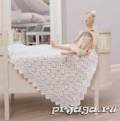 Схема вязаного пледа для новорожденных