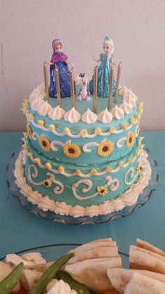 Exclusive Image Of Frozen Birthday Cake Walmart Fever Easy Diy Decorating Use Sugar Sunflowers Found At