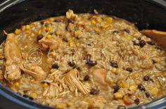 Slow Cooker Fiesta Chicken & Rice ~ http://www.southernplate.com