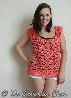 Gemstone Lace Top - Free Crochet Pattern - The Lavender Chair