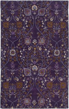 Rizzy Rugs Century Plum Floral Rug