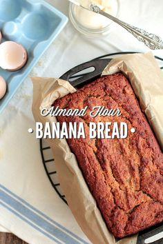 Almond Flour Banana Bread - use coconut yogurt from TJs, xtra cinnamon, xtra pumpkin spice, less honey.
