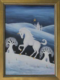 Dana Poláková - Jednorožec - akryl, 2013, 61x47 cm, 1750€