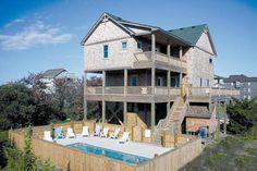 2BNWaves: 5 Bedroom, 4 1/2 Bath - Private Heated Pool - Oceanside- Waves NC