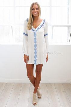 betty dress/top - ivory