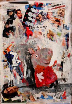 SMARTUP OPTIMA Le opere in gara.  È TUTTO UN GIOCO SERIE VINCENZO MASCOLI Tecnica mista su tavola 45 x 65 cm Anno 2013  La precarietà dell'essere nella postmodernità. Le impetuose policromie e il caos materico che rappresentano simboli dell'immaginario collettivo e che fanno da sfondo a scene di quotidiana perdita di senso della condizione esistenziale umana.