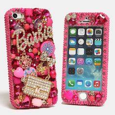 Barbie crystal bling iphone case