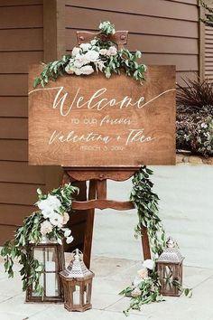 Rustic Wedding Signs, Chic Wedding, Perfect Wedding, Dream Wedding, Wedding Day, Rustic Weddings, Wedding Ceremony, Outdoor Weddings, Romantic Weddings