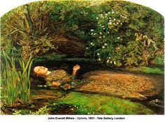 Ophelia by John Everett Millais (1829-1896) ~ my favourite Pre-Raphaelite painting of this subject