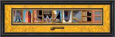 Milwaukee (University of Wisconsin)  - The pictures spell Milwaukee!