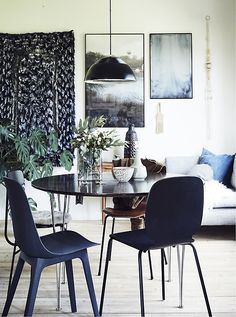 Mix and match dining chairs to create a relaxed, eclectic look - everyone will have their favourite! Find dining room ideas at IKEA.com #IKEAIDEAS