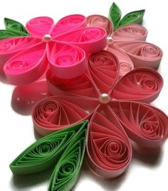 Quilled Paper Flower Ornaments.