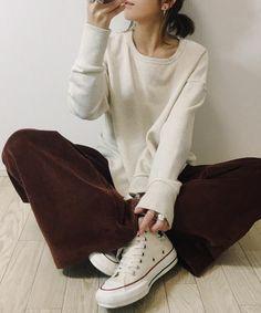 STUDIOUS(ステュディオス)の「【WEARISTA mayumi コラボ】コンパクトワイドスウェット(スウェット)」 - WEAR Normcore, Lovely Things, Minimal, How To Wear, Aesthetics, Style, Fashion, Swag, Moda