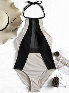 SHARE & Get it FREE | Two Tone Low Back Halter SwimsuitFor Fashion Lovers only:80,000+ Items • New Arrivals Daily • Affordable Casual to Chic for Every Occasion Join Sammydress: Get YOUR $50 NOW!