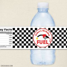Items similar to Race Car Party Water Labels - Checkered Flags - waterproof personalized water bottle labels on Etsy Nascar Party, Race Car Party, Adult Party Themes, Birthday Party Themes, Birthday Ideas, Happy 6th Birthday, Boy Birthday, Ferrari Party, Personalized Water Bottle Labels