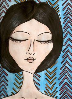 ME RELAJO #love #art #watercolor #paintings #illustration
