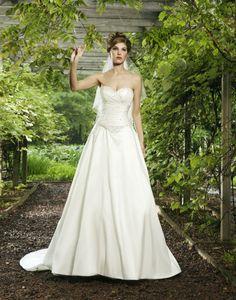 Strapless Sweetheart Beaded Bodice A-line Wedding Dress