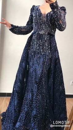 Luxury Blue Deep-V Crystal beaded Evening Dress with overskirt Luxury Blue Deep-V Crystal beaded Evening Dress with overskirt. Processing time full of high end handmade business days after payment.