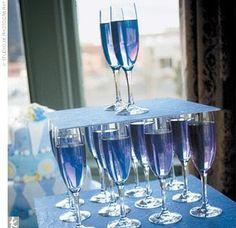 Something Blue cocktail drink - Primadonna Bride