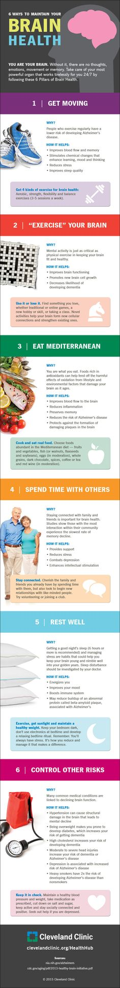 6 Ways to Maintain Your Brain Health (Infographic)