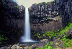 Svartifoss waterfall and columnar basalt, Skaftafell National Park, Iceland