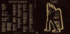 """""""Electric Warrior"""" by T Rex outer cover front/back. Designed by Hipgnosis."""