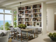 Newest Bookcase Plans vogue Other Metro Transitional Dining Room Remodel ideas with area rug bench seat Dining Room Storage, Dining Room Design, Dining Area, Dining Rooms, Dining Bench, Banquette Table, Table Bench, Kitchen Design, Dining Tables