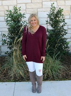I love a good oversized sweater that is so versatile. This one can be worn so many different ways! Also, take a look at our new golden doodle pup!