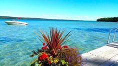 Torch Lake MI The shockingly blue waters attract locals and visitors alike who come to gawk at the gorgeous natural spot. Torch Lake Michigan, Lake Michigan Vacation, Michigan Blue, Holland Michigan, Michigan Vacations, Michigan Travel, Northern Michigan, Lakes In Michigan, Fun Vacations