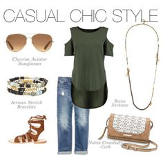 Love the natural beauty of the Reina necklace paired with a great hunter green top! #stelladotstyle #sdjoy