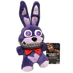 """Funko and Five Nights at Freddy's presents 'Nightmare Bonnie' as a stylized 6"""" Plush Doll! Get this 'Limited Edition' character today and complete your Series 2 FNAF Plush collection! Officially licensed FUNKO merchandise with all tags attached. For age 8+ only."""