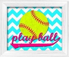 Girls+Softball+theme+bedroom+Chevron+Hot+Pink+by+LostSockDesigns,+$10.00
