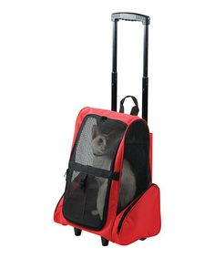 Loving this Red Deluxe Pet Stroller on #zulily! #zulilyfinds