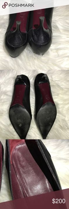 "Gucci Bow Pointed Toe Pumps Excellent used condition! Branded hardware at the end of the bows. Modest heel is around 2.5"".  Reasonable offers considered! Gucci Shoes Heels"