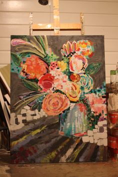 another flower painting by Lacey Craig