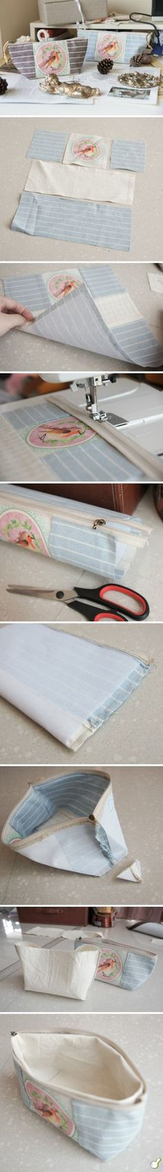 Small zip bag tutorial...looks pretty simple....good for leftover small remnants!