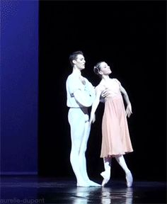 Juliette Hilaire and Hugo Marchand in Nureyev's Romeo and Juliet GIF