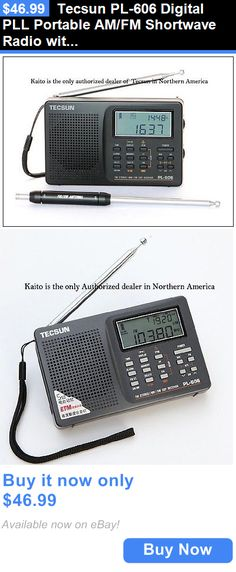 Portable AM FM Radios: Tecsun Pl-606 Digital Pll Portable Am/Fm Shortwave Radio With Dsp - Black BUY IT NOW ONLY: $46.99